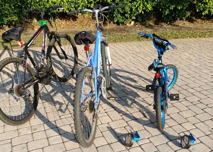 "His, Hers and a 16"" Bike with Optional training wheels. Fun at the park!"