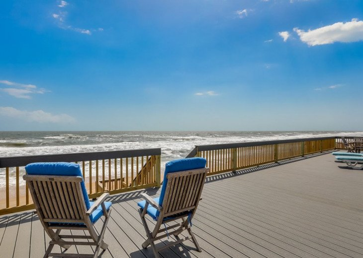 3 bedroom, 2 bath, pet friendly home located right on the beach. Fenced yard. #15