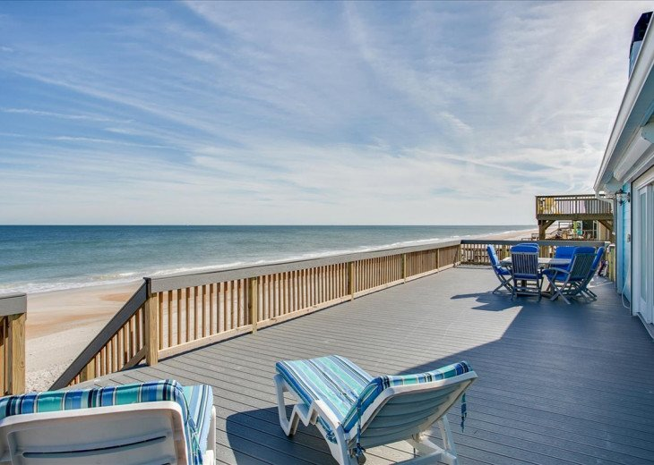 3 bedroom, 2 bath, pet friendly home located right on the beach. Fenced yard. #20