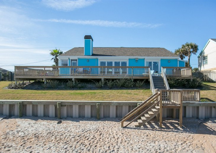 3 bedroom, 2 bath, pet friendly home located right on the beach. Fenced yard. #21