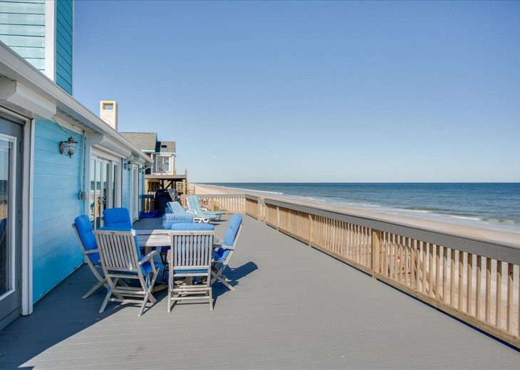 3 bedroom, 2 bath, pet friendly home located right on the beach. Fenced yard. #19