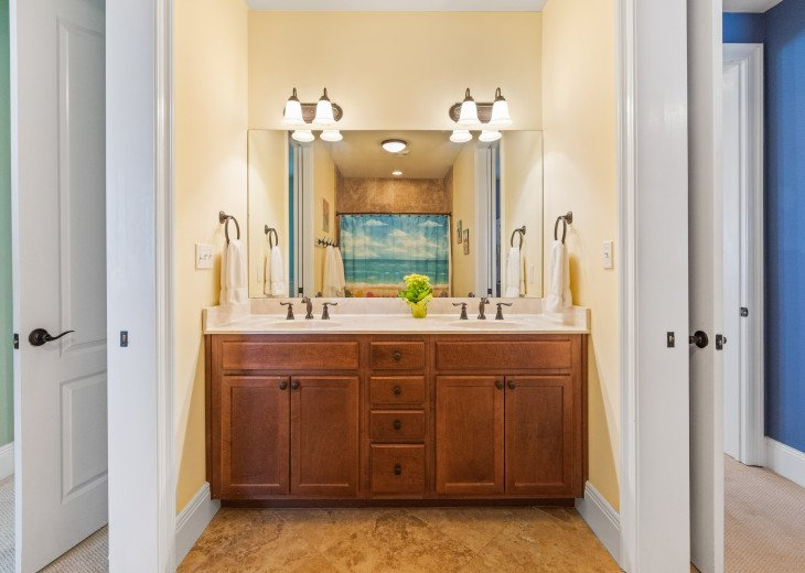 Jack and Jill bathroom vanity