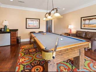 Billiard room with enough seating for everyone
