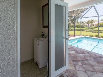 Half separate Pool Bathroom
