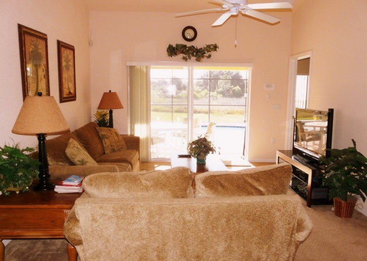 Great Room, 42 inch Plasma TV, ceiling fan
