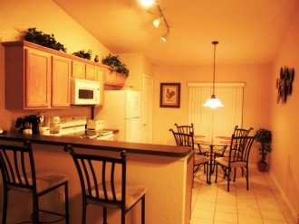 Fully equipped kitchen and breakfast area