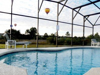 Pool with Hot Air Balloon
