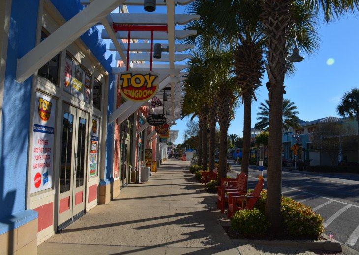 Take a stroll through Pier Park right across the street from Calypso.