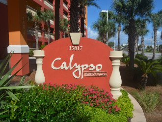 Main Entrance to Calypso Resort.
