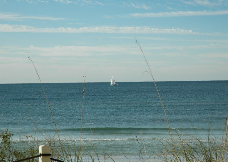 Sailboat as seen from our beach