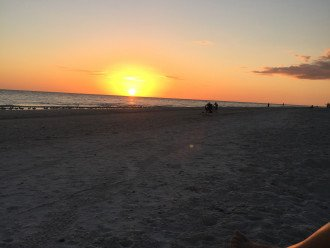 Sunset on our beach.....