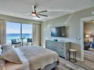 Master King Bedroom with pub table for morning coffee and Gulf Views