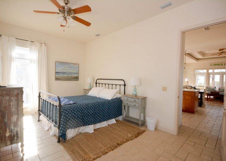 Third floor bedroom serves as second master, large tastefully done.
