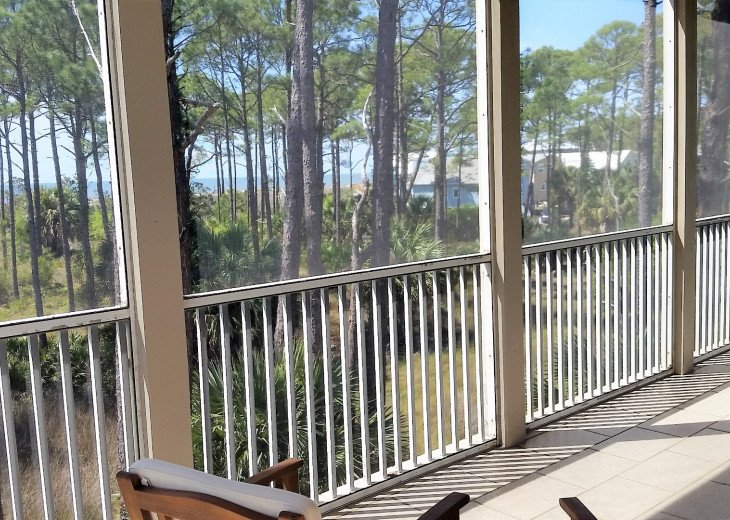 View from Great Room screened porch of Gulf of Mexico.