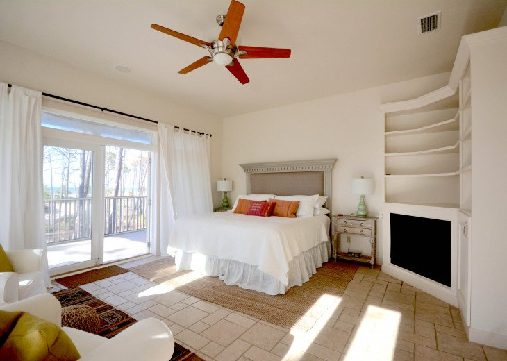 Master suite is very spacious, comfortable, and impeccably furnished.