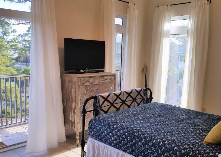 Third floor bedroom is very comfortable, perfect for in-laws or adult couples.