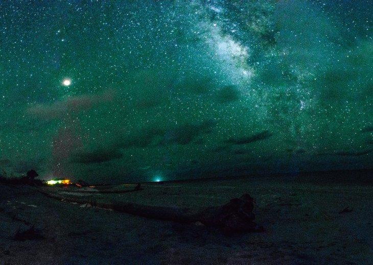 Milky Way galaxy at night from Cape San Blas.