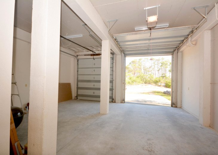 First floor garage makes unloading easy and dry when it rains.