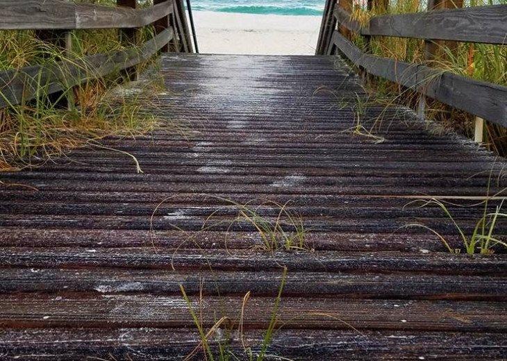 Walk to the Private Beach