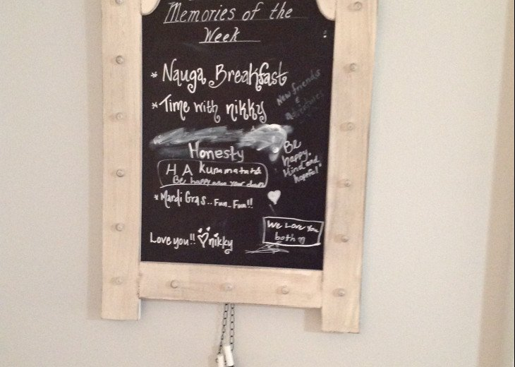 Chalkboard to Write your Favorite Memory