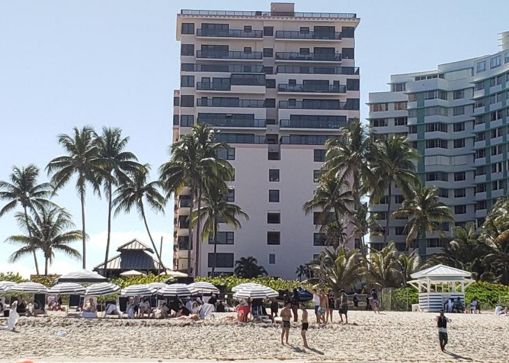 Hotel Back View from Beach