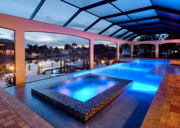 Caribbean Island Dolphin View - 54 ft log pool/ spa, dock 2 min. to the river #23