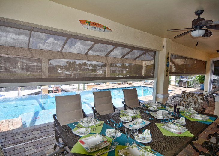 Caribbean Island Dolphin View - 54 ft log pool/ spa, dock 2 min. to the river #43