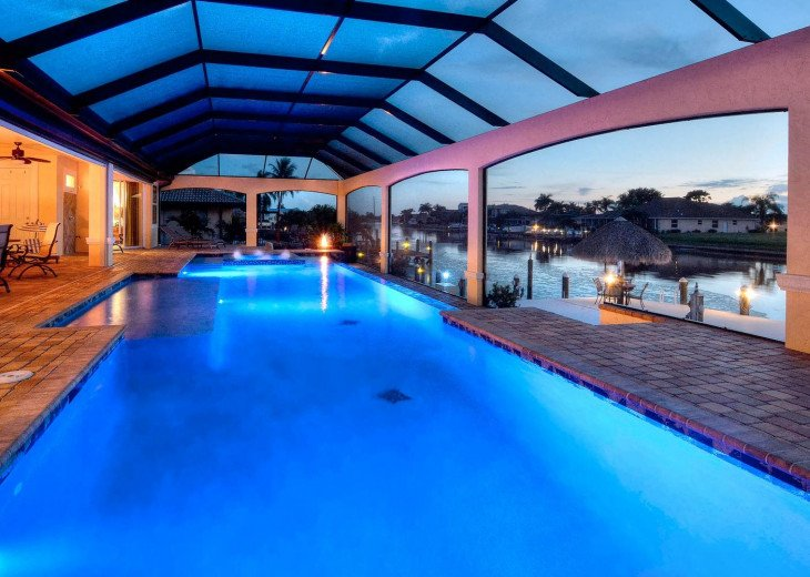 Caribbean Island Dolphin View - 54 ft log pool/ spa, dock 2 min. to the river #16