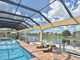 Caribbean Island Dolphin View - 54 ft log pool/ spa, dock 2 min. to the river #1