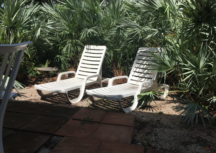 BACK YARD WITH LOUNGE CHAIRS