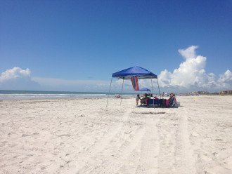 EXPANSIVE PRIVATE BEACH IN FRONT OF COMPLEX WITH LOADS OF PRIVACY