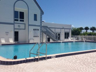 OCEAN SIDE POOL AND CLUBHOUSE WITH DECK