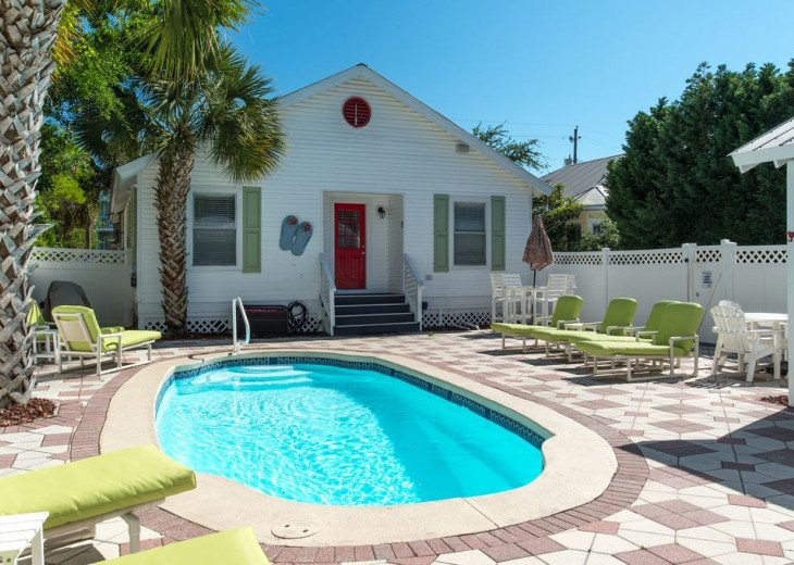 SUMMER READY | GOLF CART | PRIVATE HEATED POOL | 2 BLOCKS TO BEACHFRONT #1