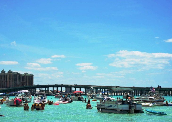 Crab Island is a popular place to escape and relax the day away