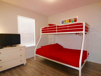 Twin over full bunk beds (Room 4)