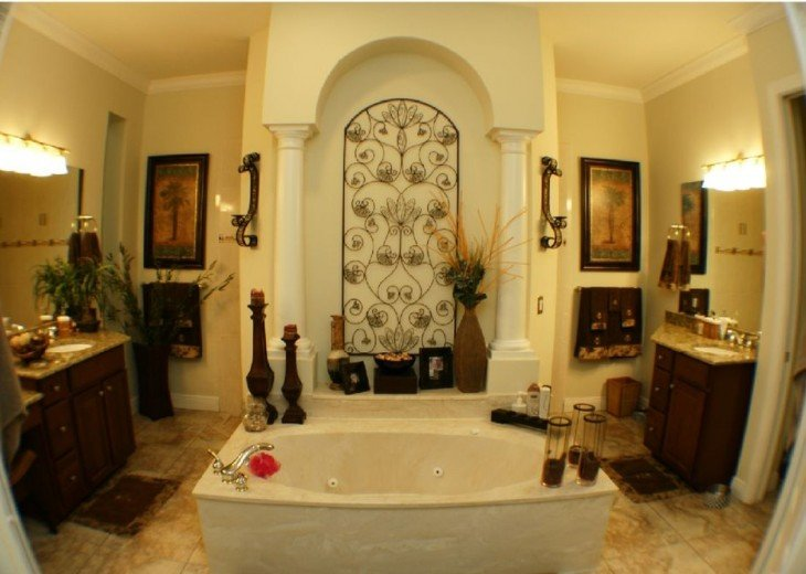 MASTER BATH ROOM JETTED TUB, Walk in Shower,His & Hers VANITIES.