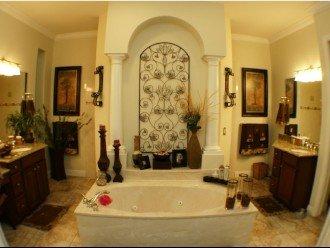 MASTER BATH ROOM JETTED TUB, Walk in Shower,His & Hers VANITIES.
