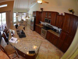LARGE OPEN KITCHEN, Granite Counter tops, Breakfast bar