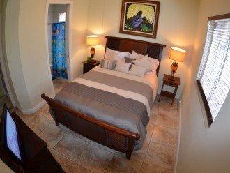 BEDROOM # 5 1 QUEEN BED , LCD TV, SPEAKER FM SYSTEM