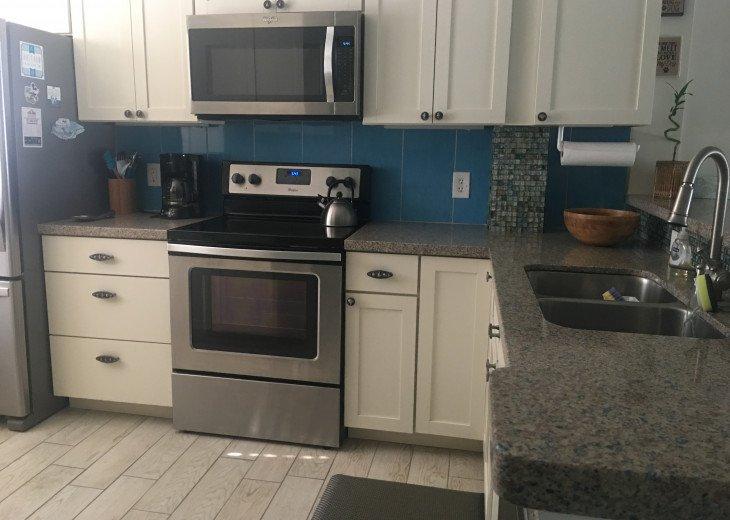Martha Stewart kitchen, with stainless appliances