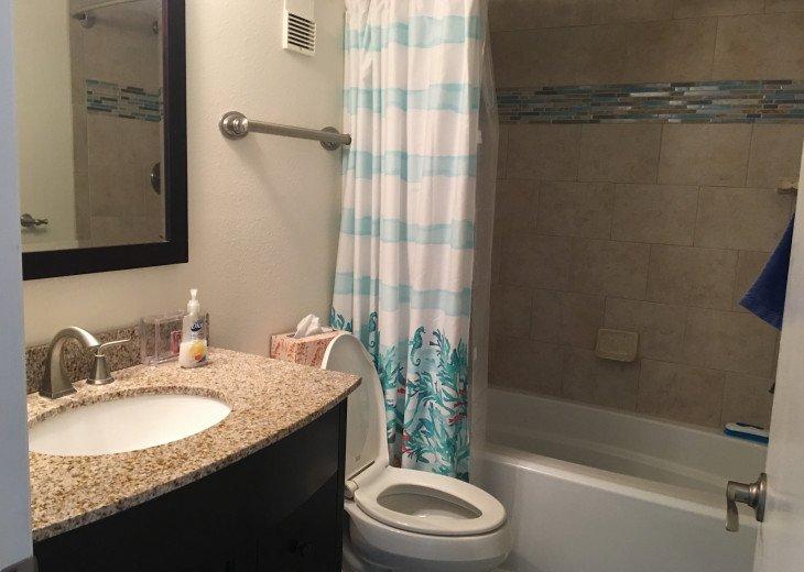Guest bathroom with deep soaking tub