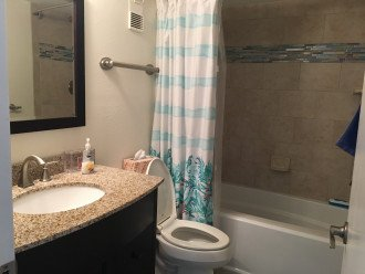 Guest bathroom with deep soaking tub