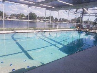 Oversized pool.