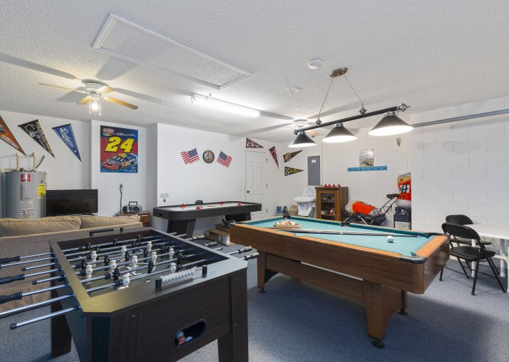 Relax in the games room after a busy day in the parks