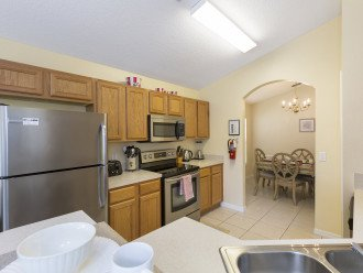 Your fully equipped kitchen, dish washer, fridge/freezer with ice maker