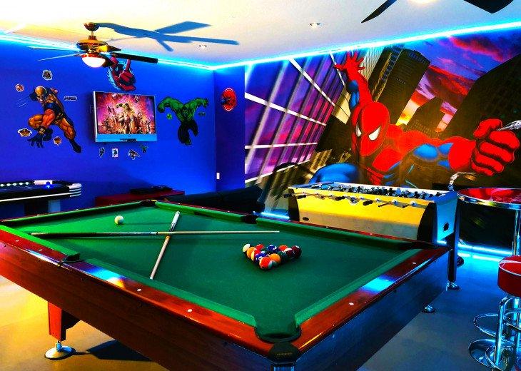 Super Hero Games Room