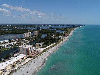 Aerial looking south towards Casey Key