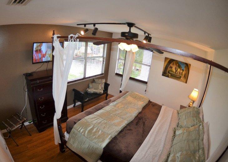 SECOND FLOOR: BEDROOM # 5 , 1 KING size bed, LCD-TV , view of water ways