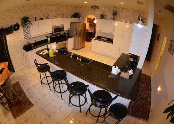 1 st FLOOR: LARGE OPEN KITCHEN, Breakfast bar ,Granite counter tops