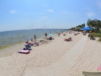 Cape Coral Public beach located within 4-5 minute drive